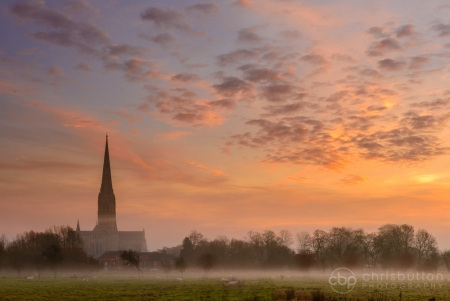 Salisbury Cathedral Dawn